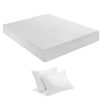 King size 10-inch Thick Memory Foam Mattress with 2 Pillows