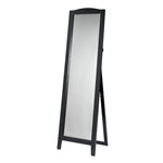 Functional Classic Full Length Leaning Floor Mirror with Black Frame