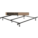 Heavy Duty 6-Leg Metal Bed Frame/  Adjust to fit Twin Full Queen King