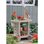 Outdoor Portable Potting Bench Gardening Station Utility Bin