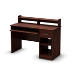 Eco-Friendly Computer Desk Table in Cherry - Great for Kids Teens Adults