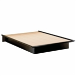 Cosmos Basic Full Size Platform Bed in Black Finish