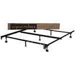 Heavy Duty 7 Leg Adjustable Metal Bed Frame