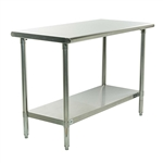 Stainless Steel Top Food Safe Prep Table Utility Work Bench With Adjustable Shelf
