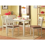 White 5-Piece Dining Table and Chairs Set