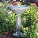 Outdoor Solar Fountain Bird Bath in Fade Resistant Resin with Solar Pump
