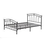 Twin size Black Metal Platform Bed Frame with Headboard and Footboard