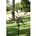 6-Ft Tall Bronze Finish Metal Wind Spinner Spinnin