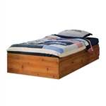 Twin size Platform Bed Daybed with Storage Drawers in Pine Wood Finish
