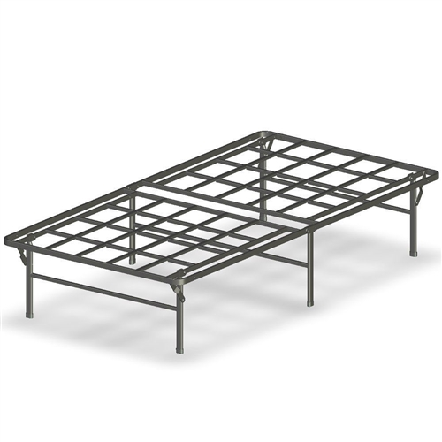 Twin xl heavy duty foldable metal platform bed frame for Short twin bed frame