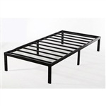 Twin XL Study Black Metal Platform Bed Frame - No Box-Springs Needed