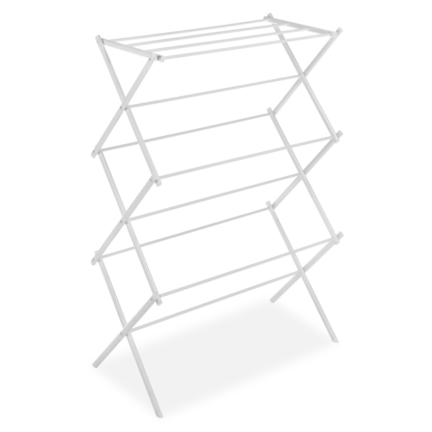 White Folding Laundry Dryer Clothes Drying Rack Sturdy