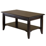 Rectangle Wood Coffee Table in Cappuccino Finish