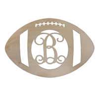 monogram wood letters football