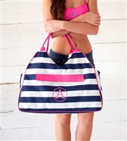 Prep Stripe Beach Bag: Personalized Beach Bag | lulukate