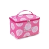 large hot pink cosmetic bag