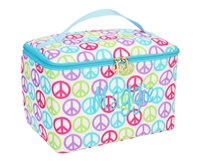 large peace symbol cosmetic bag
