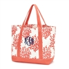 Coral Canvas Tote Bag