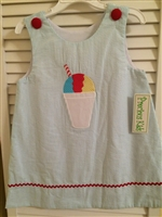 Precious Kids Snowball Applique A-line Dress