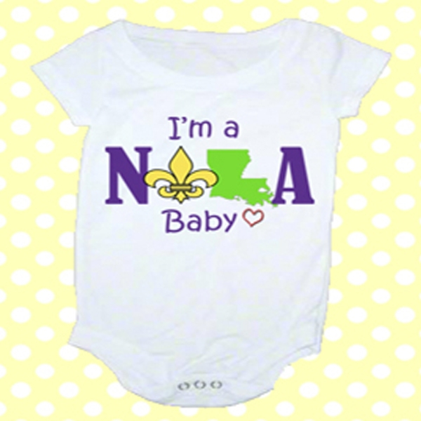 Monogrammed Baby Clothes, Scarves, Apparel & Beach Hats