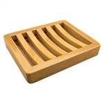 Beech Wood Soap Dish Curved Rectangle Tray