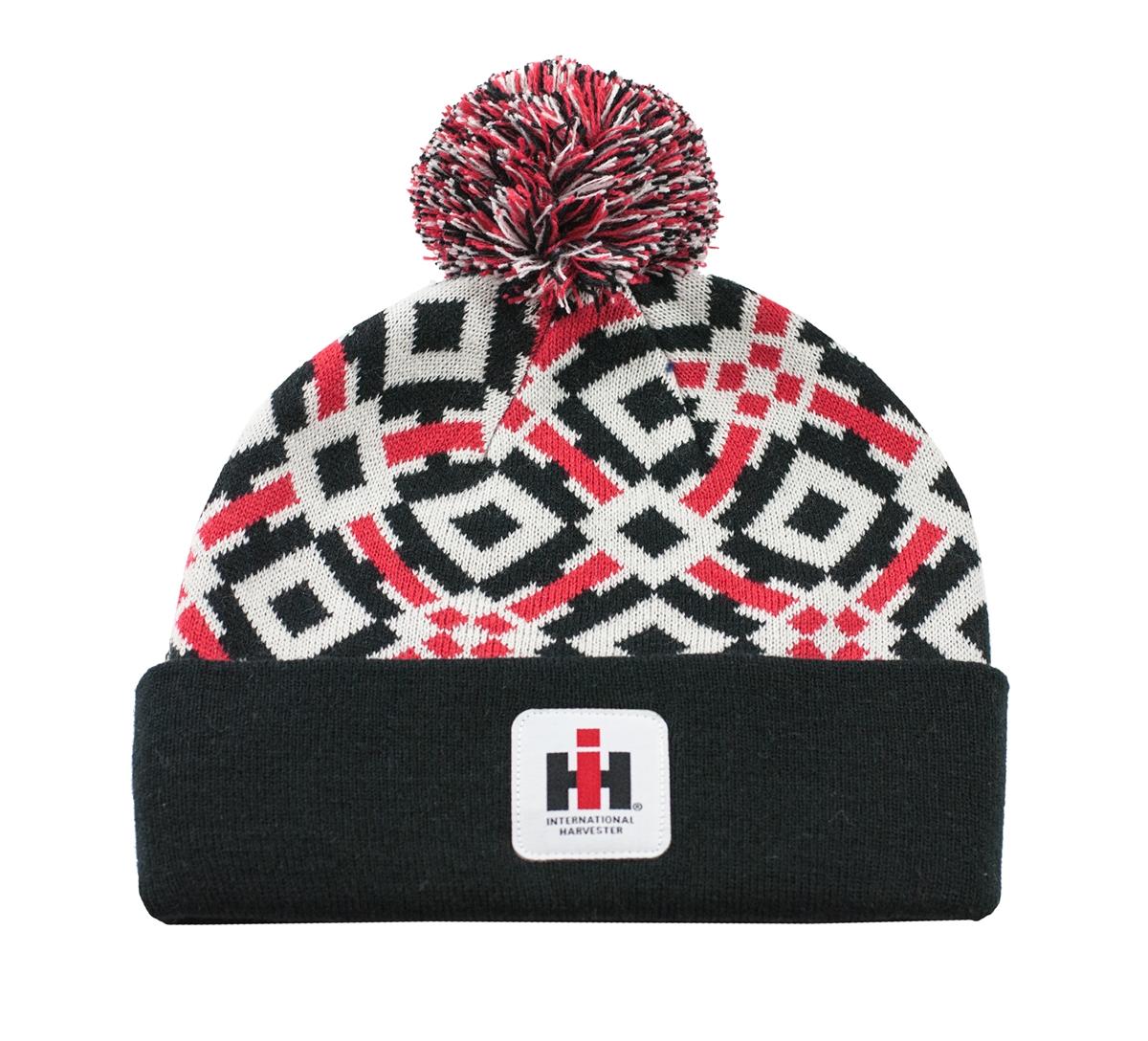 IH Youth Pom Pom Hat Red White Black b5f6a4dafb41