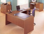 Genoa L Desk with Return