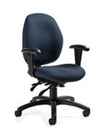 Malaga Series Low Back Multi-Tilter Swivel Chair