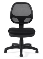Seating To Go: Mesh Back Task Chair - Armless