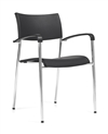 Seating To Go: Stack Chair with Arms - OTG1220B by Global Offices to Go