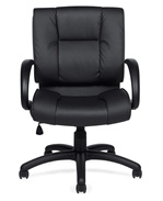 Seating To Go: Mid Back Luxhide Executive Chair