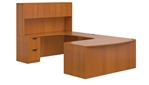 Superior Laminate Bow Front U Desk with Hutch - LayoutSL-D from Global