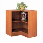 30in H Corner Wood Bookcase