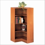 48in H Corner Wood Bookcases