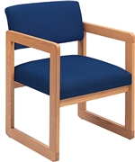 Classic Open Back Series: Sled Base Guest Chair - Healthcare Vinyl - C1101G3