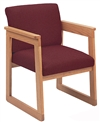 Classic Extended Arm Series: Tapered Arm Sled Base Guest Chair - Healthcare Vinyl - C1401H4
