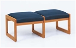 Classic Series: 2 Seat Sled Base Bench - Healthcare Vinyl - C2001B3