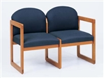 Classic Round Back Series: 2 Seat Sled Base Sofa - Healthcare Vinyl - C2301G3