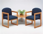 Healthcare Reception: Classic Series 2 Chairs with Connecting Corner Table