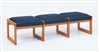 Classic Series: 3 Seat Sled Base Bench - Healthcare Vinyl - C3001B3