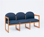 Classic Round Back Series: 3 Seat Sled Base Sofa - Healthcare Vinyl - C3301G3