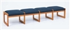 Classic Series: 4 Seat Sled Base Bench - Healthcare Vinyl - C4001B3