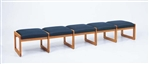 Classic Series: 5 Seat Sled Base Bench - Healthcare Vinyl - C5001B3