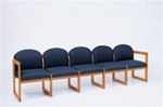 Healthcare Reception Classic Series 5-Seat Sofa