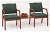 Franklin Series: 2 Chairs with Connecting Center Table - Healthcare Vinyl - D2856K5