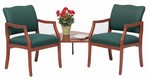 Franklin Series: 2 Chairs with Connecting Corner Table- D2857K5