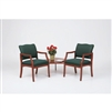 Franklin Series: 2 Chairs with Connecting Corner Table - Healthcare Vinyl - DD2857K5