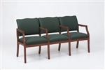 Franklin Series: 3 Seats with Center Arms - Healthcare Vinyl - D3853K5