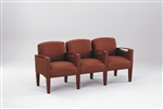 Brewster Series: 3 Seats with Center Arms - Healthcare Vinyl - F3453K6