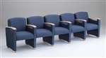 Somerset Series: 5 Seats with Center Arms - Healthcare Vinyl - F5403G6